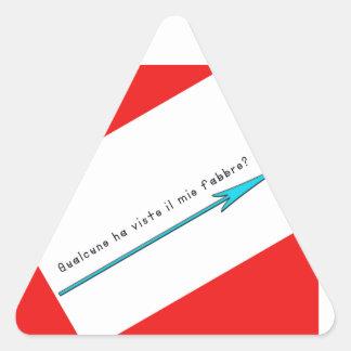 Italien-Forgeron Sticker Triangulaire