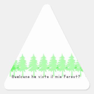 Italien-Forrest Sticker Triangulaire