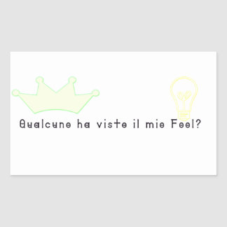 Italien-Imbécile Sticker Rectangulaire