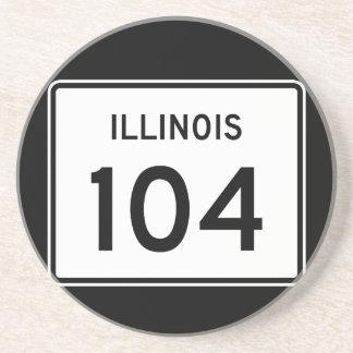 Itinéraire 104 de l'Illinois Dessous De Verre En Grès