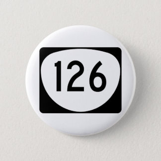 Itinéraire 126 de l'Orégon Badge Rond 5 Cm