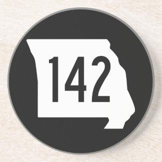 Itinéraire 142 du Missouri Dessous De Verre En Grès