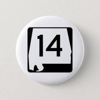 Itinéraire 14 d'état de l'Alabama Badge Rond 5 Cm