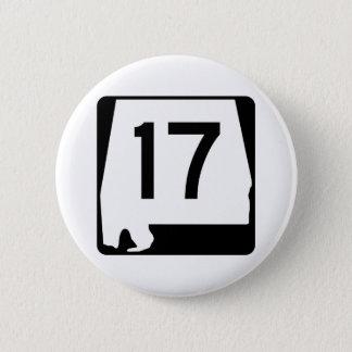 Itinéraire 17 d'état de l'Alabama Badge Rond 5 Cm