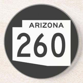 Itinéraire 260 d'état de l'Arizona Dessous De Verre En Grès