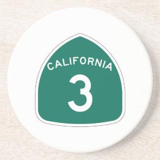 Itinéraire 3 d'état de la Californie Dessous De Verre En Grès