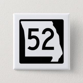 Itinéraire 52 du Missouri Badge Carré 5 Cm