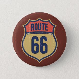 Itinéraire 66 -1014 badge rond 5 cm