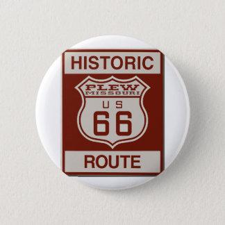 Itinéraire 66 de Plew Badge Rond 5 Cm