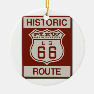 Itinéraire 66 de Plew Ornement Rond En Céramique
