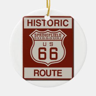 Itinéraire 66 de Springfield Ornement Rond En Céramique
