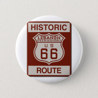 Itinéraire 66 du Liban Badge Rond 5 Cm