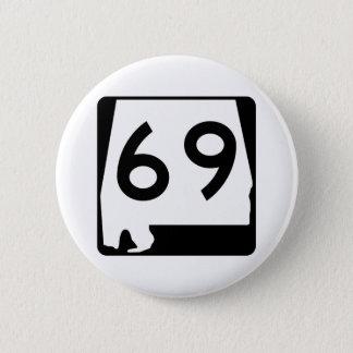 Itinéraire 69 d'état de l'Alabama Badge Rond 5 Cm