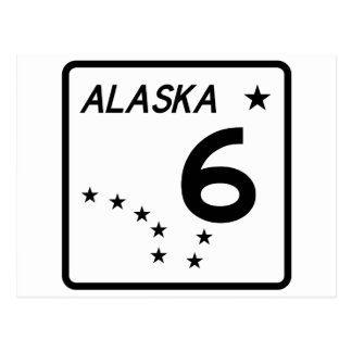 Itinéraire 6 d'état de l'Alaska Carte Postale