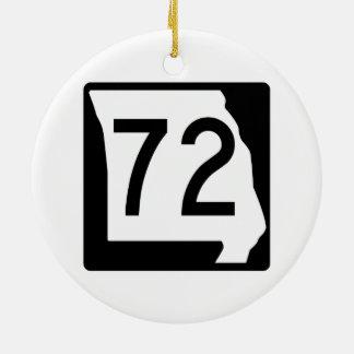 Itinéraire 72 du Missouri Ornement Rond En Céramique