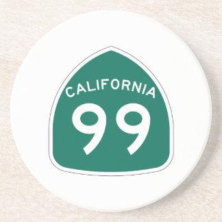 Itinéraire 99 d'état de la Californie Dessous De Verre En Grès