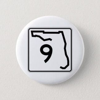 Itinéraire 9 d'état de la Floride Badge Rond 5 Cm