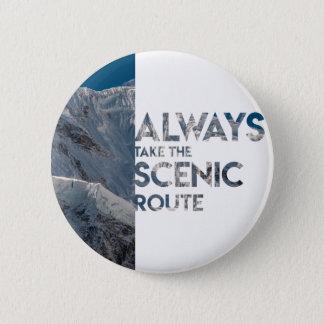 Itinéraire pittoresque badge rond 5 cm