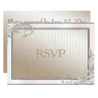 Ivoire et satin RSVP Carton D'invitation 12,7 Cm X 17,78 Cm