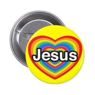J aime Jésus Je t aime Jésus Coeur Badge Avec Épingle