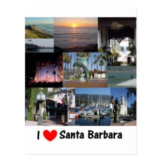 j aime Santa Barbara png Carte Postale