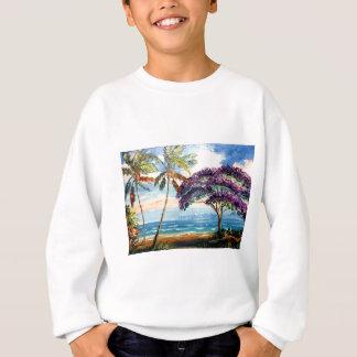 Jacaranda de floraison sur la plage sweatshirt