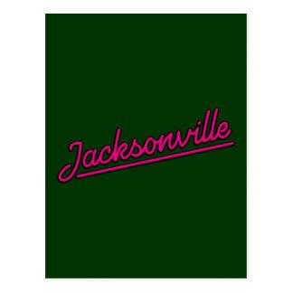 Jacksonville en magenta carte postale