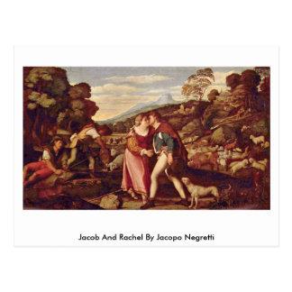 Jacob et Rachel par Jacopo Negretti Carte Postale