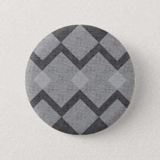 Jacquard gris badge rond 5 cm