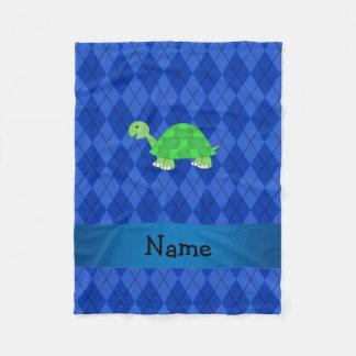Jacquard nommé personnalisé de bleu de tortue