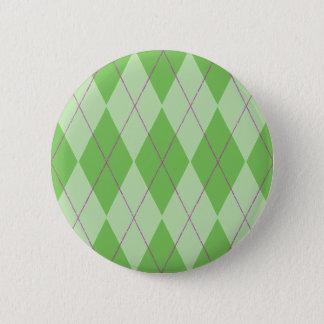 Jacquard vert badge rond 5 cm