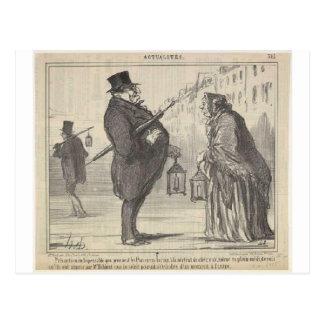 Jacques Babinet par Honore Daumier Carte Postale