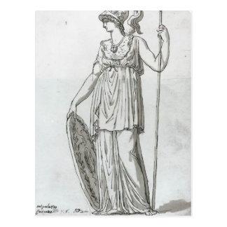 Jacques-Louis David : Minerva Carte Postale