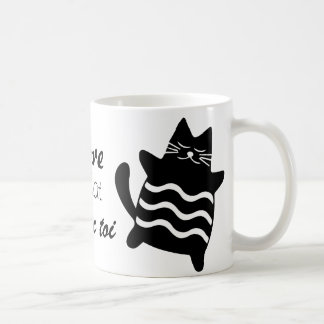 J'adore être un chat mug blanc