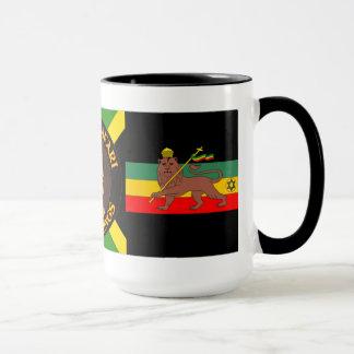 Jah Rastafari - lion de Judah - Rasta - tasse de