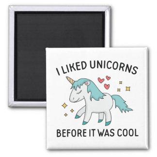 J'ai aimé des licornes magnet carré