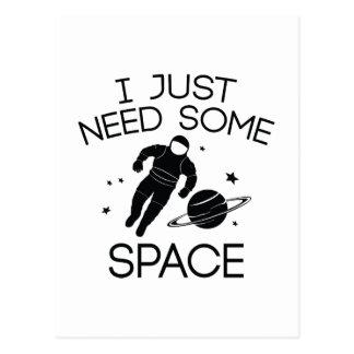 J'ai besoin juste d'un certain espace carte postale