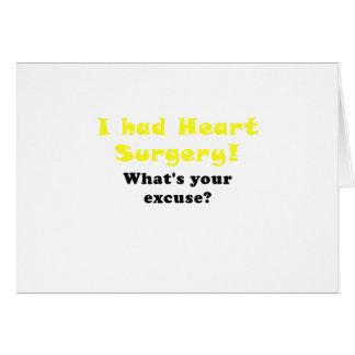 J'ai eu la chirurgie cardiaque ce qui est votre carte de vœux