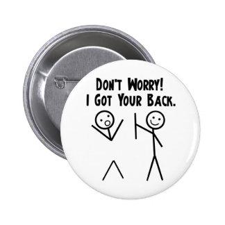 J'ai obtenu votre dos ! badge rond 5 cm