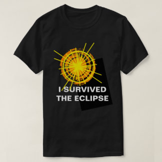 J'ai survécu au personnalisable drôle d'éclipse t-shirt