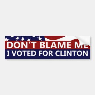J'ai voté pour Clinton Autocollant De Voiture