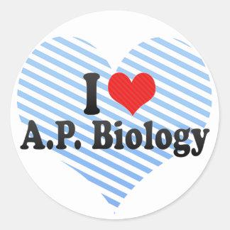 J'aime A.P. Biology Sticker Rond