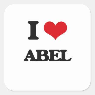 J'aime Abel Sticker Carré