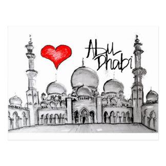 J'aime Abu Dhabi Carte Postale