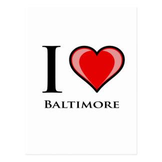 J'aime Baltimore Carte Postale