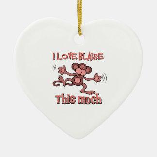 J'aime Blaise Ornement Cœur En Céramique
