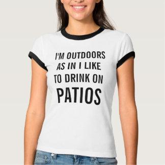J'aime boire sur le T-shirt de la sonnerie des