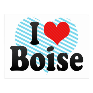 J'aime Boise Carte Postale