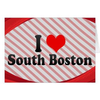J'aime Boston du sud, Etats-Unis Carte