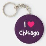J'aime Chicago Porte-clés